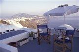 View Toward Caldera, Imerovigli, Santorini, Greece Art Print