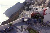 Hotel Between Fira and Imerovigli, Greece Art Print