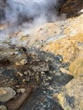 Geothermal Area Seltun Heated By The Volcano Krysuvik On Reykjanes Peninsula During Winter Art Print
