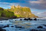 Sunrise Over Dunluce Castle Along Northern Coast Of County Antrim, Northern Ireland Art Print