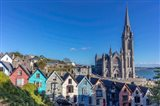 Deck Of Card Houses With St Colman's Cathedral In Cobh, Ireland Art Print