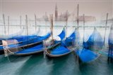 Italy, Venice Abstract Of Gondolas At St Mark's Square Art Print