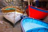 Italy, Riomaggiore Colorful Fishing Boats Art Print