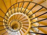 Italy, Lazio, Tivoli, Villa d'Este Spiral Staircase Art Print