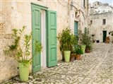 Italy, Basilicata, Matera Plants Adorn The Outside Walls Of The Sassi Houses Art Print