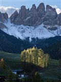 Sankt Magdalena In Villnoess Valley During Autumn Art Print
