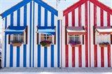 Portugal, Costa Nova, Fisherman's Village Art Print