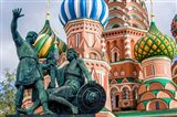 Monument To Minin And Pozharsky St Basil's Basilica Red Square Moscow, Russia Art Print