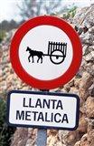 Spain, Majorca, Road Sign Art Print