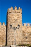 Spain, Castilla y Leon Scenic medieval city walls of Avila Art Print