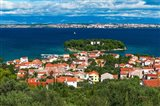 Town Of Preko And The Dalmatian Coast From St Michael's Fort, Croatia Art Print