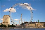 London Eye, Amusement Park, London, England Art Print