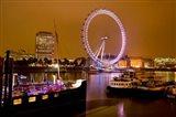 England, London River Thames and London Eye Art Print