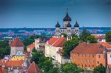 Estonia, Tallinn Alexander Nevsky Cathedral And City Overview Art Print