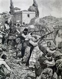 First World War (1914-1918) Inhabitants Of Town Of Serbia Fight Against Austrian Troops Art Print