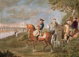Parade Of The Troops Before Frederick II Art Print
