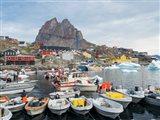 Uummannaq Harbor And Town, Greenland Art Print