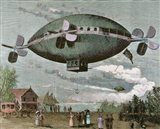 Aerostat Engraving In 'The Illustration', 1887 Art Print