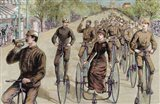 American League Cycles In Pennsylvania Avenue Mid May 1884 Washington Art Print