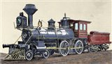 Locomotive Drawing R Loewenstein 'La Ilustracion' 1881 Art Print