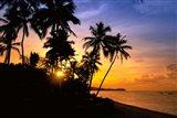 Beach sunset, Hideaway resort, Viti Levu, Fiji Art Print