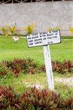 Kioa Island sign, Fiji, Melanesia Art Print