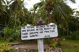 Sign, Kioa Island,  Fiji Art Print