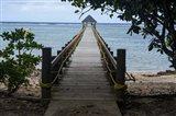 Long wooden pier, Coral Coast, Viti Levu, Fiji, South Pacific Art Print
