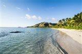 White sandy beach, Oarsman Bay, Yasawa, Fiji Art Print