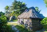 Local thatched hut, Yasawa, Fiji, South Pacific Art Print