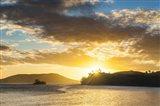 Sunset over the beach, Nacula Island, Yasawa, Fiji Art Print