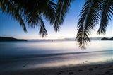 Sunset over the beach, Naviti, Yasawa, Fiji, South Pacific Art Print