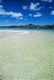 Turquoise water at the Nanuya Lailai island, the blue lagoon, Yasawa, Fiji, South Pacific Art Print