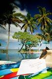 Poolside, Beqa Lagoon Resort, Beqa Island, Fiji Art Print