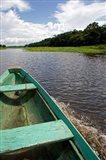 Dugout canoe, Arasa River, Amazon, Brazil Art Print