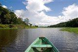 Dugout canoe, Boat, Arasa River, Amazon, Brazil Art Print