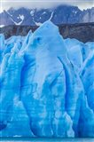 Chile, Patagonia, Torres Del Paine National Park Blue Glacier And Mountains Art Print