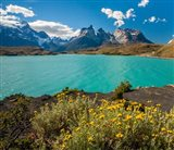 Chile, Patagonia, Torres Del Paine National Park The Horns Mountains And Lago Pehoe Art Print