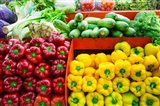 Fruit And Vegetable Market, Puerto Vallarta, Jalisco, Mexico Art Print