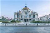 Mexico City, Palacio De Bella Artes At Dawn Art Print