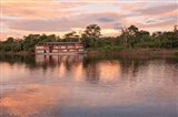 Delfin river boat, Amazon basin, Peru Art Print