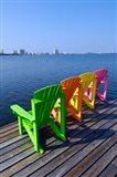 Adirondack Chairs, Orange Beach, Alabama Art Print