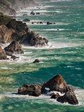 California, Big Sur Waves Hit Coast And Rocks Art Print
