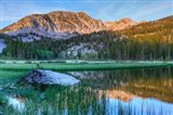 California, Sierra Nevada Mountains Calm Reflections In Grass Lake Art Print