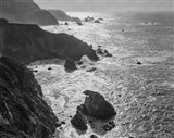 Big Sur Coast, California (BW) Art Print