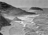 Little Sur Coast, California (BW) Art Print