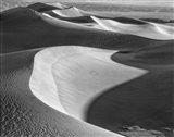 Californian Valley Dunes (BW) Art Print
