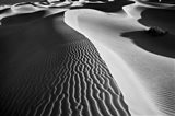 Valley Dunes Landscape, California (BW) Art Print