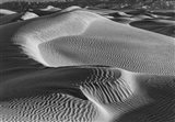 Valley Dunes Desert, California (BW) Art Print