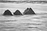 California, Garrapata Beach, Floating Rocks (BW) Art Print